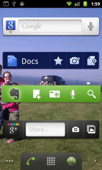 Google+ Android widget