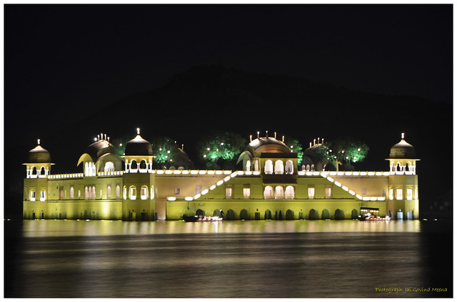 Jaipur's Jal Mahal - The Water Palace in Diwali Lighting