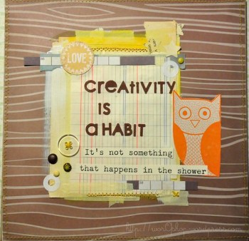 creativity is a habit by worqshop