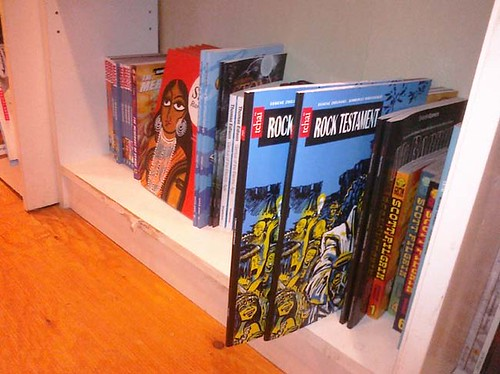 Rock Testament at Another Story Book Shop display by ezhilinsky