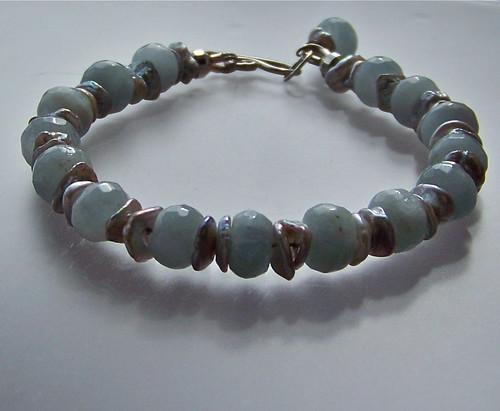 Gemstone & Pearl Bracelet by WETCLOUD