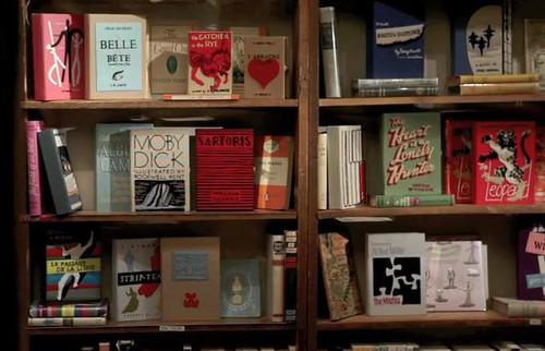 felt books on shelf