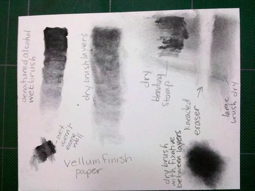 Graphite Powder Experimentation on Vellum Paper