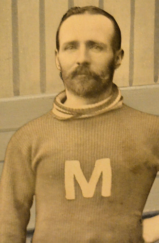 DWP Thompson, centre on the Midland hockey team that won the 1899-1900 Northern Ontario Championship by William J. Gibson, the Canuckshutterer