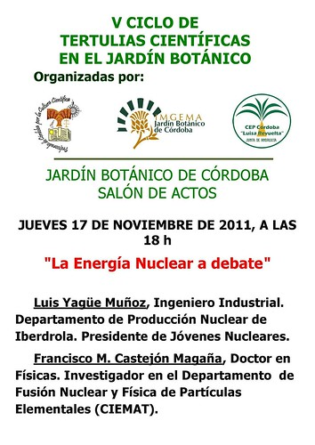 Debate sobre energía nuclear.