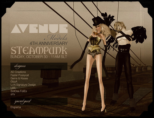 AVENUE Models 3rd Anniversary :: STEAMPUNK :: OCT 30 - 12PM SLT