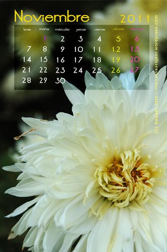 Calendario noviembre 2011