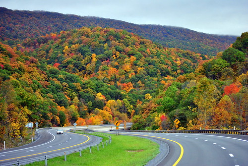 Along Interstate 77 in West Virginia