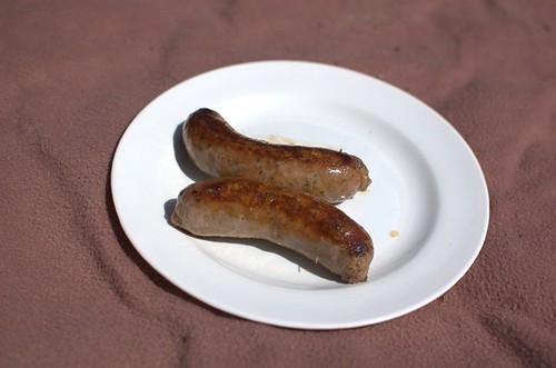 Beef, garlic & herb sausages