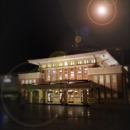 JR奈良駅より。 (_´Д`)ノ~~オツカレー! #night #iphonography #instagram #iphone4s