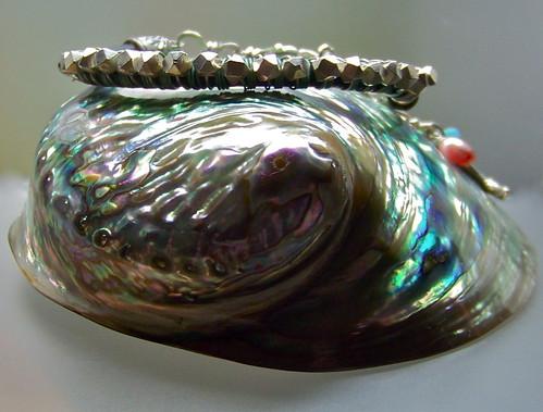 Silver & Leather Bracelet  by WETCLOUD