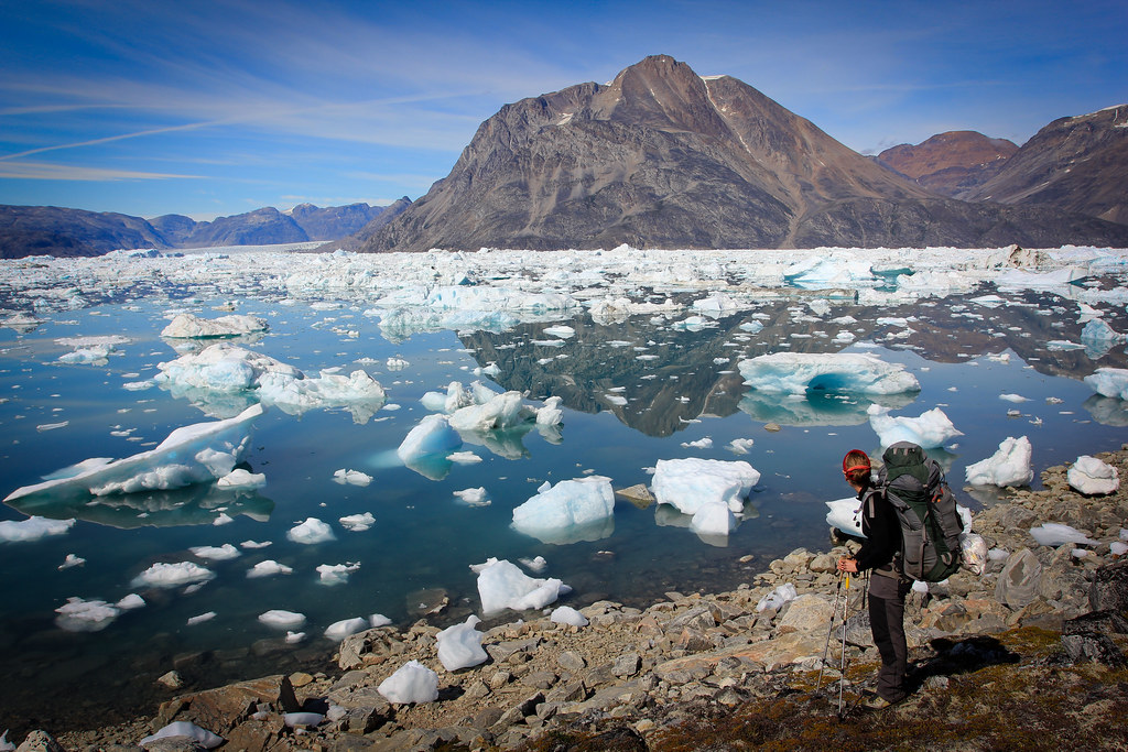 Ice berg dotted Sermilik Fjord