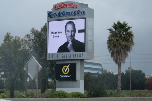 Thank You Steve Jobs Sign 6 Oct 2011