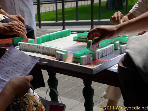 Mah Jong with Scrabble