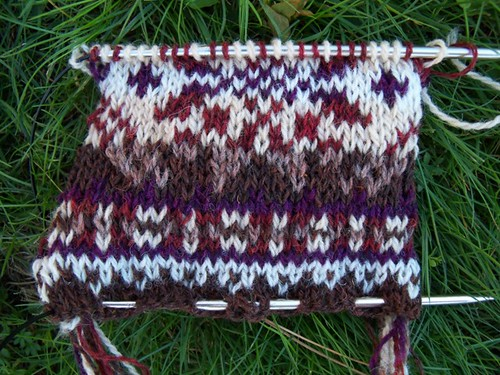 colorwork swatch