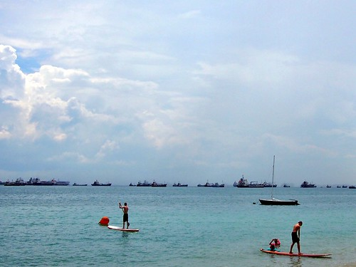 Stand-up Paddleboarding, East Coast Parkway, Singapore