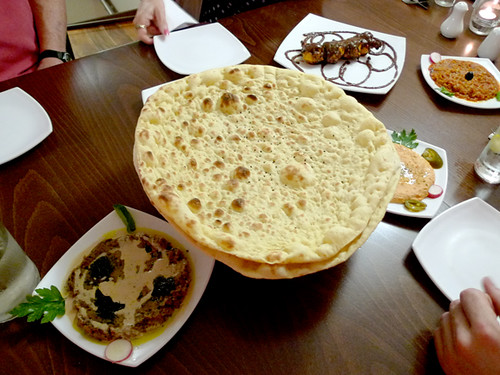 Fresh Baked Naan at Persia Restaurant