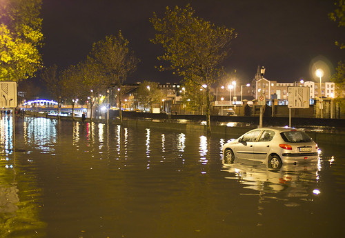 Dublin's North & South Quays Flooded