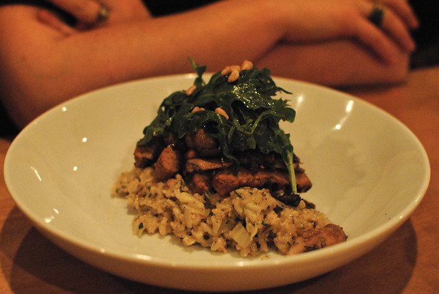 Tempeh and Mushroom Risotto
