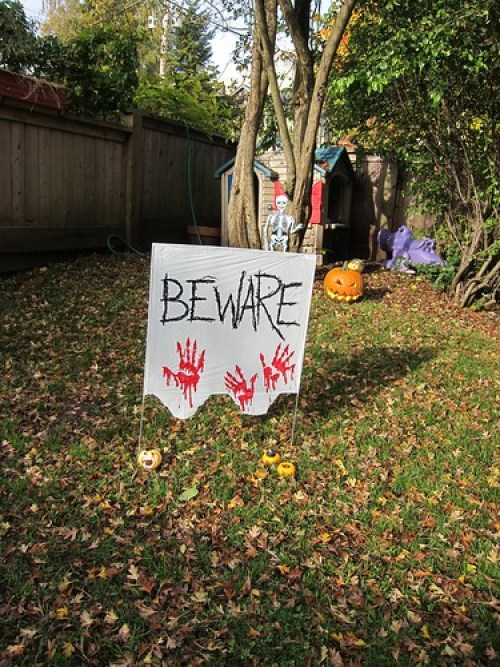 Outside Decorations Beware