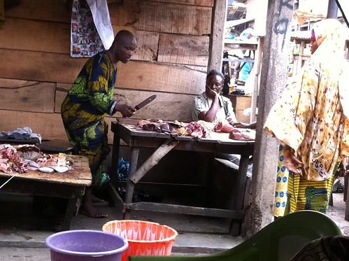 Mokola Market Ibadan Oyo State Nigeria - Eleran (butcher) by Jujufilms