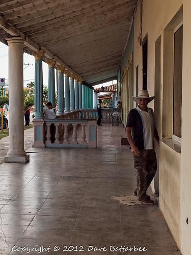 Colonnade in Vinales High Street