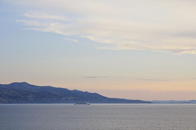 corfu with sunset