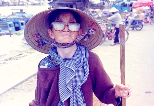 Old lady in south of Vietnam
