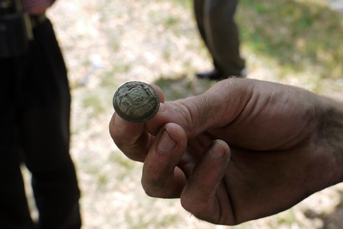 Union officer's jacket button, Civil War Archeology in Lafayette Square