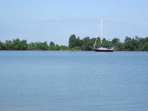 Anchored in La Trappe Creek