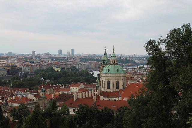 Vue de Prague depuis l'Ancien Palais Royal, Hradčany, Prague