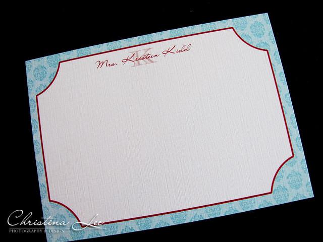 personal notecard