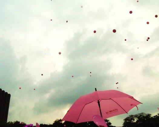 PinkDot 2011 - balloons and umbrellas