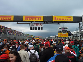 Post race pit lane