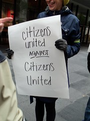 """opposing the """"Citizens United"""" corporations are people ruling"""