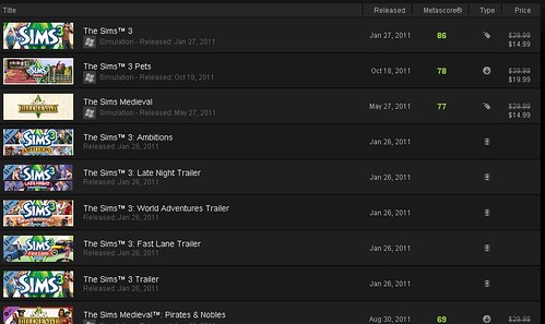 Huge Sims 3 Sale on Steam!!!