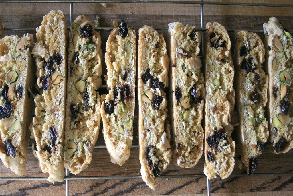 Pistachio and Dried-Cherry Biscotti | the moveable feasts