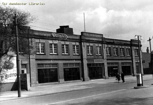 Wilmslow Road, Rusholme, East Side, 1958