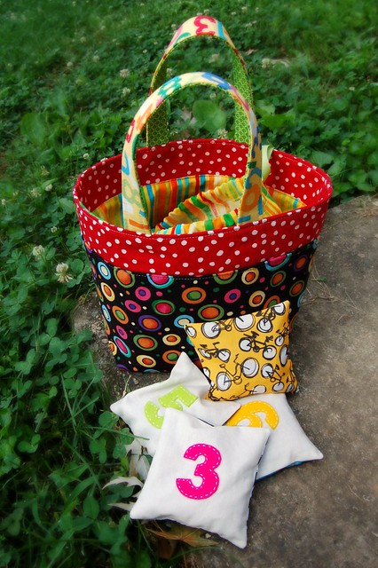 Number Bean Bags and Tote
