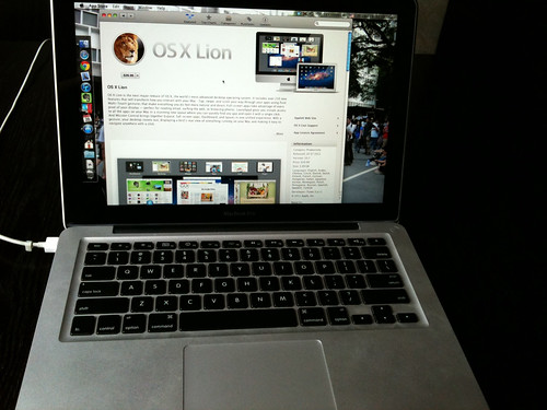Few hours free time in afternoon. Upgrade MacBook pro to OSX Lion.