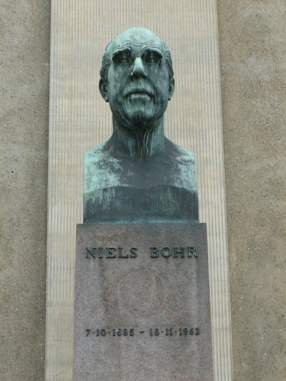 Niels Bohr's Bust Weeps for Humanity