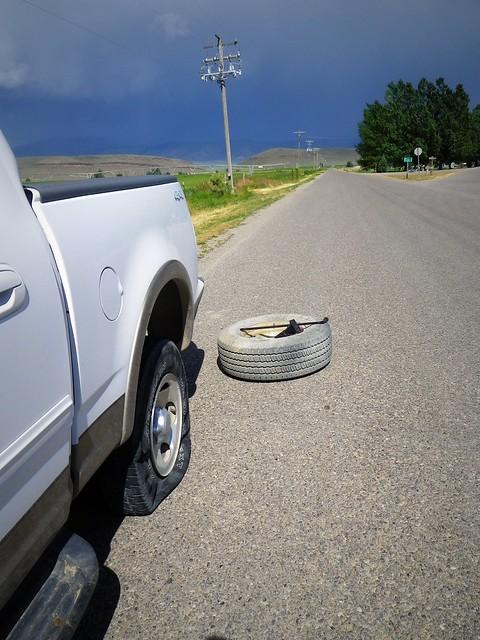 flat tire on truck
