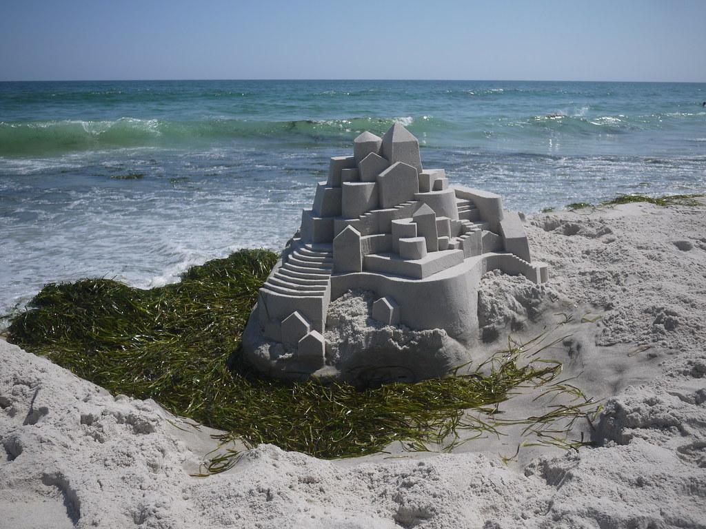5926242238 28e2190dcf b Geometric Sand Sculptures by Calvin Seibert