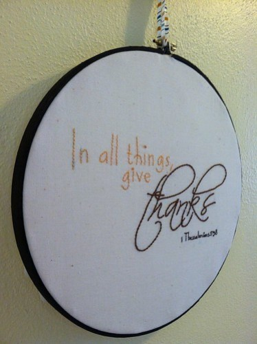 give thanks embroidery
