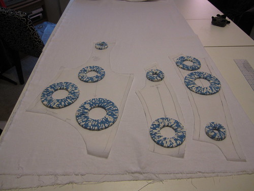 Transferring Pattern and Cutting Fabric