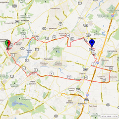 07. Bike Route Map. Princeton NJ