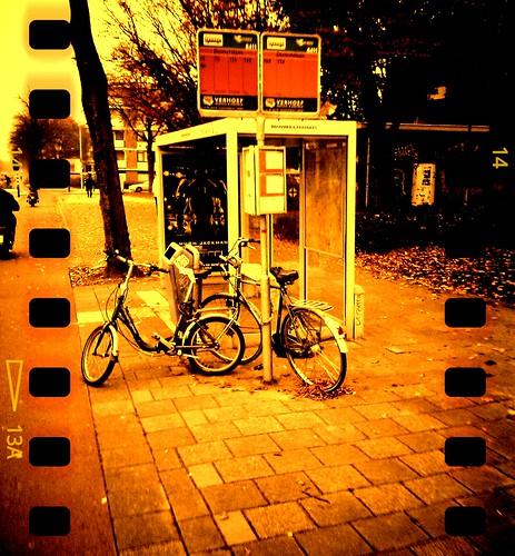 Waiting for a bus by Sergii Denega