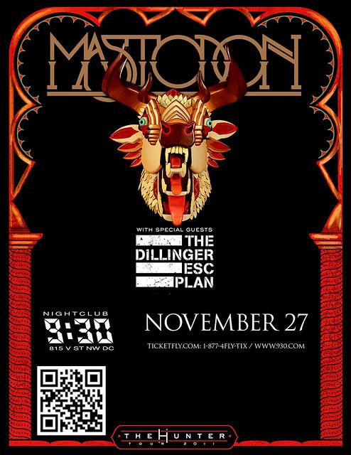 Mastodon at the 9:30 Club