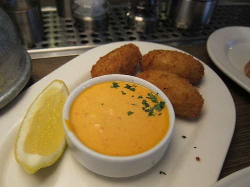 Salt Cod Fritters, Red Pepper Aioli