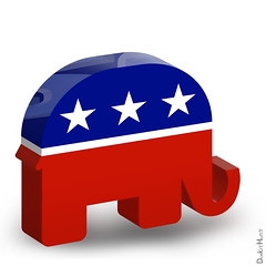 Republican Elephant - 3D Icon